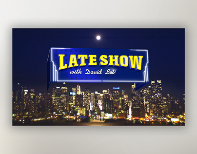 Late Show Opening Title Sequence