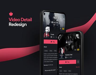 Video Detail Redesign in Bazaar Application