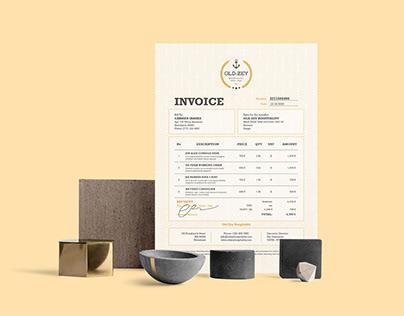 Old Zey Invoice