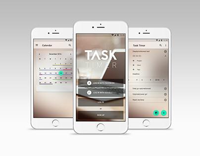 Task Timer application design