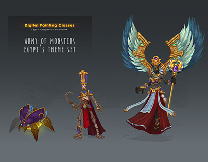Army of monsters | Egypt's theme set