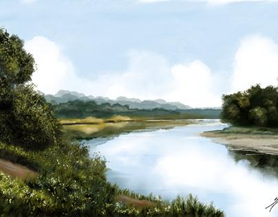 Digital painting Landscape