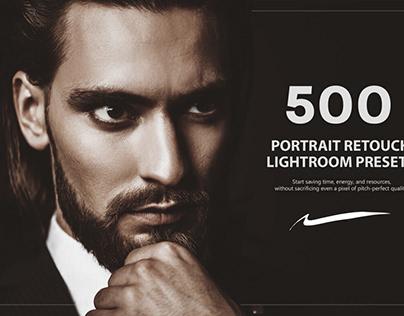 500 Portrait Retouch Lightroom Presets