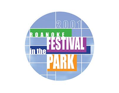 2001 Festival in the Park button