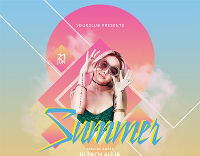 Summer Flyer & Social Media Banner Template