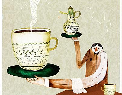Illustration/poster for Kafé 133