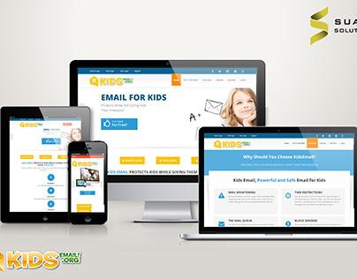Kids Email Website and Mobile App Design