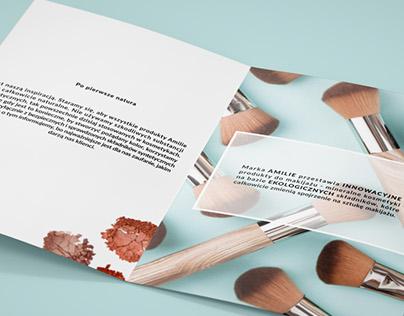 Projekt katalogu kosmetyków Amilie