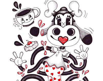 Popartoons ink drawings