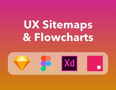 UX Sitemap + Flowchart Template