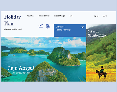 """Holiday Plan"" Landing Page - Web Design - UI/UX"