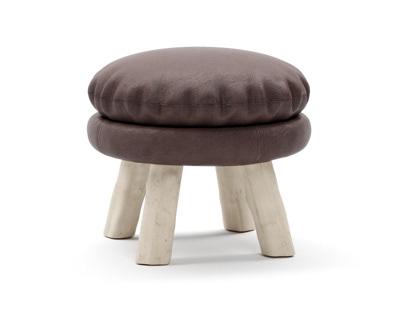 Bleu Nature Mattak stool 3D-modelling