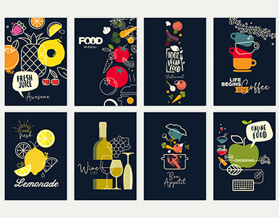 Food and Drink Menu and Brochure Design Templates