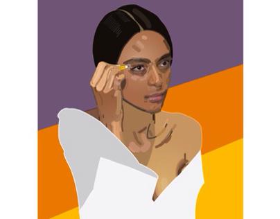 Alicia Morais draws herself