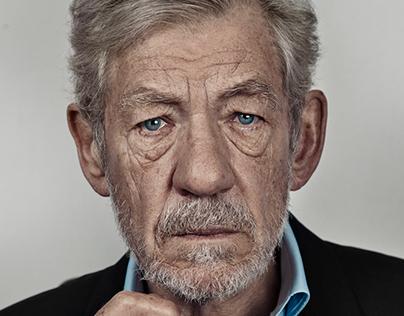 Sir Ian McKellen Portrait Sitting