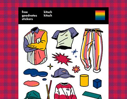 [FREE] Goodnotes Stickers_Kitsch Kitsch