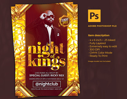 Elegant Night Flyer Template