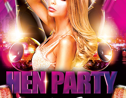 Hen Party FREE PSD Flyer Template