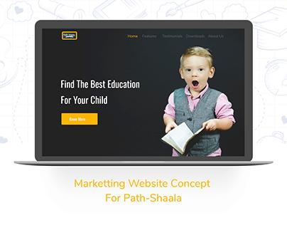Marketing page for Path-Shaala App