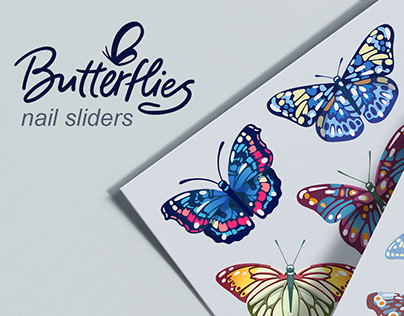 Butterflies nail slider