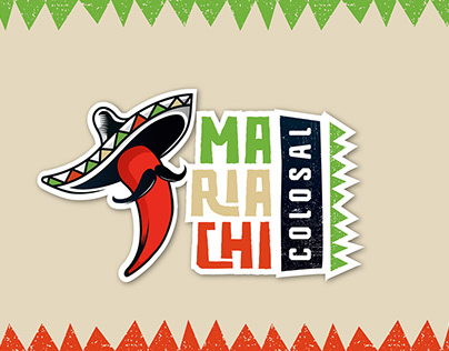 Diseño de Identidad a grupo musical Mariachi Colosal