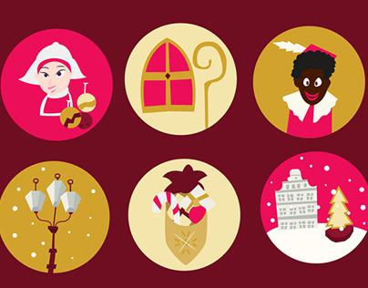 Christmas Netherlands Icons