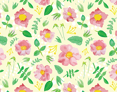 100 Days of Watercolor Patterns