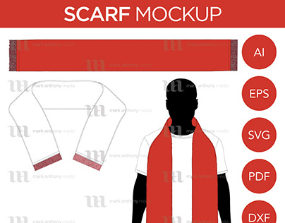 Scarf - Mockup & Template Vector