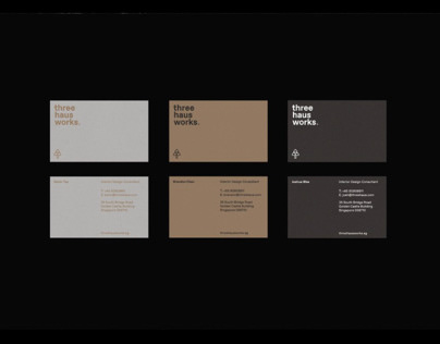 Three Haus Works Branding