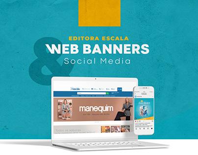 Web Banners & Social Media | Editora Escala