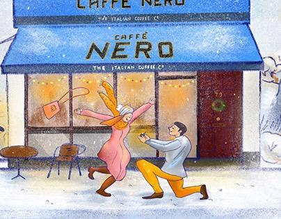 Caffè Nero Calendar Illustration