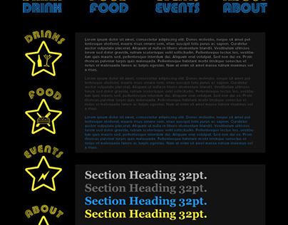 Star Bar Portland Website Prototype