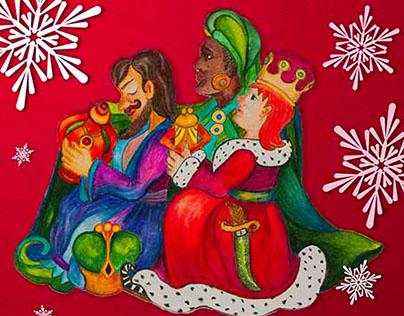 VINTAGE NATIVITY Christmas Gift BOX