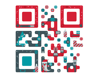 Christmas card with QRcode