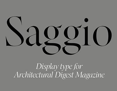 Saggio Display Typeface