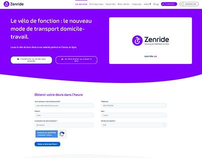 Relooking website ZENRIDE
