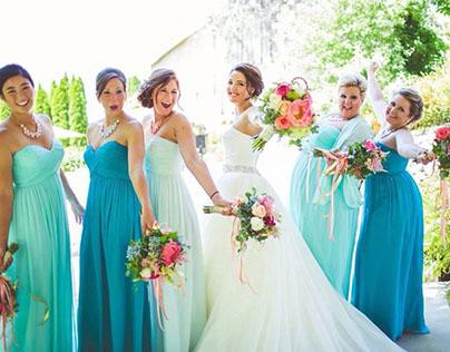 Robes demoiselles d'honneur bleues