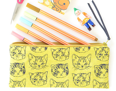 Cute Cats Pouches | Original Fabric
