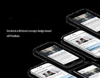 Storica | Mobile App Design