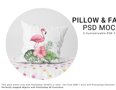 NEW FOR CREATIVE MARKET 14 PILLOW AND FABRIC