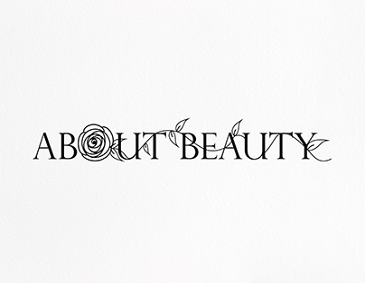 Logo for cosmetics store About Beauty