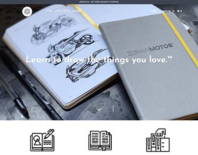 IDRAW❙ High-end sketchbooks ❙ Shopify Store