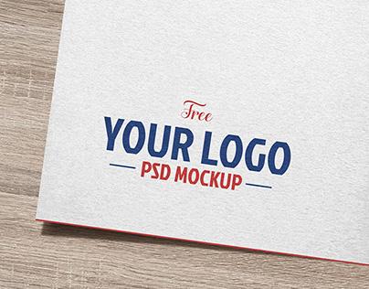 Free Natural White Paper Logo / Logotype Mockup PSD
