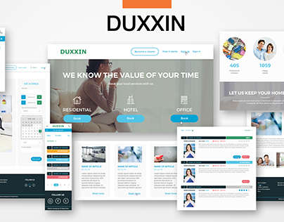 Web-Site For Cleaning Firm
