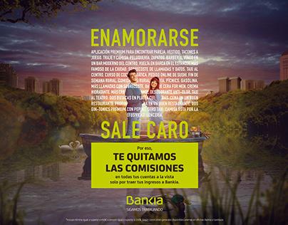 """Bankia """"Te quitamos las Comisiones""""."""