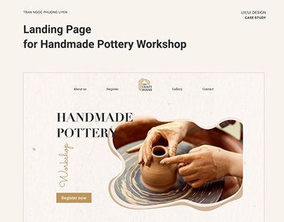 [ Landing Page ] Handmade Pottery Workshop