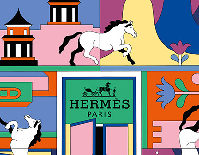 Transformation of the China world Hermes store Beijing