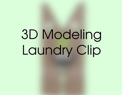 Laundry Clip 3D Modeling
