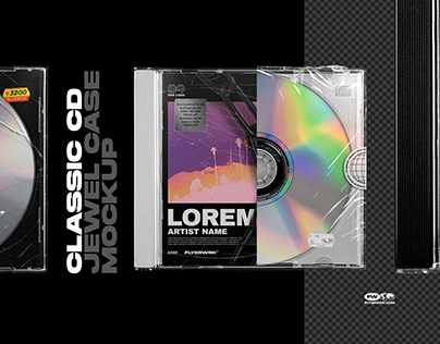 Classic CD Jewel Case Mockup
