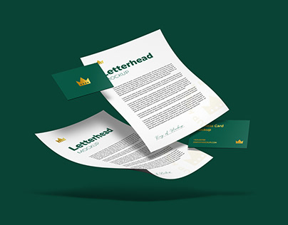 Letterhead with Business CardMockup